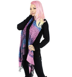Purple Ombre Cheetah Pashmina Scarf