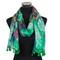 Paisley Design-Sheer Silk/Polyester Long Scarf Green
