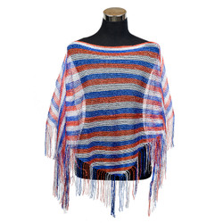 Shimmer and Shine Fringed Poncho American Flag