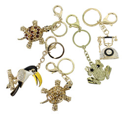 Lot of 5 Purse Charm Keychain Assorted