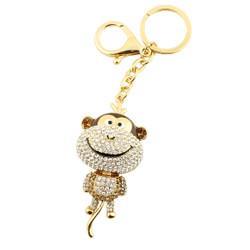 Rhinestone Monkey Business Keychain Purse Charm