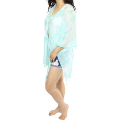 Mint Tassel Poncho Swim Cover Up