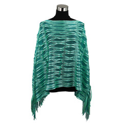 Sparkling Fishnet Poncho Green and Mint