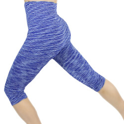 Multicolor Print Sports Capri Blue