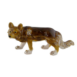 Cunning Fox Trinket Box with Crystals
