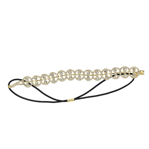 Crystal Loops Headwrap Headband Gold