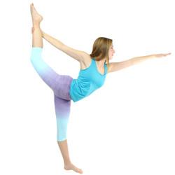 Ombre Yoga Athletic Workout Exercise Capris Leggings Purple