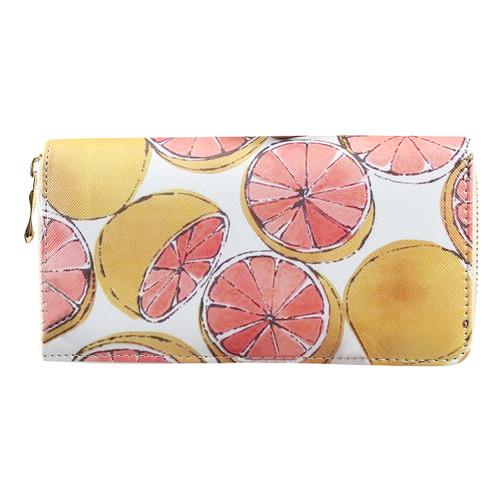 Vintage Grapefruit Wallet Phone holder
