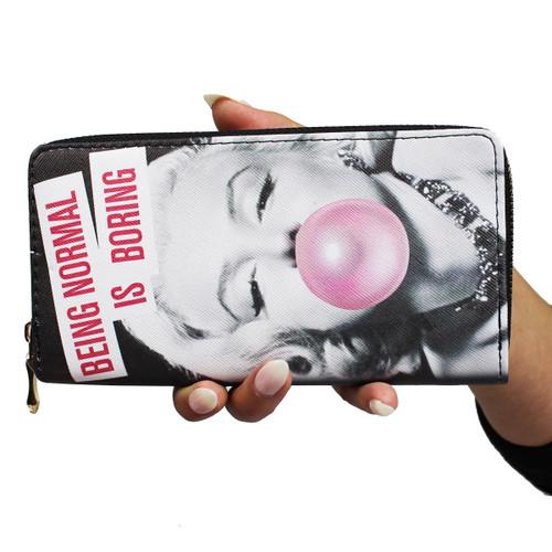 Bubble Gum Monroe Wallet Phone Holder