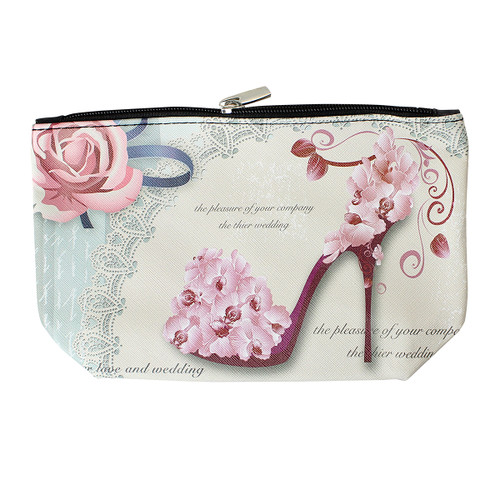 Orchid Heel Decorated Cosmetic Bag