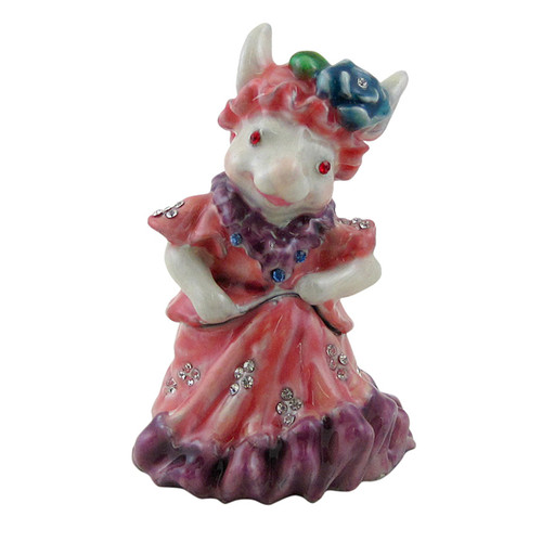 Little Lady Rabbit Trinket Box