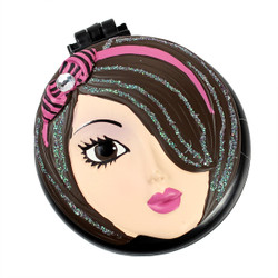 Mandi Compact Mirror Popup Brush