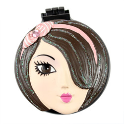 Sandy Compact Mirror Popup Brush