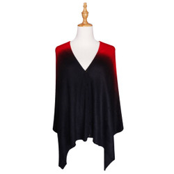 Multi Use Soft Scarf with Buttons Ombre Red