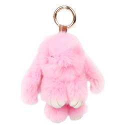 Rexy Rabbit Keychain Purse Charm Pink