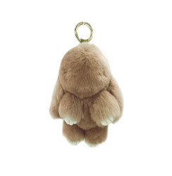 Rexy Rabbit Keychain Purse Charm  Khaki