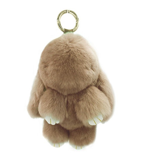 Large Rexy Rabbit Keychain Purse Charm Khaki
