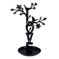 Love Jewelry Display Stand Black Metal Cut Out