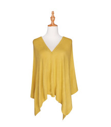 Multi Use Soft Scarf with Buttons Mustard Yellow