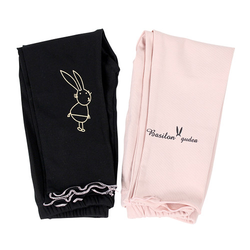 Ultra Soft Kids'Cotton Capri Bunny 2 Pack Pink/Black 2T
