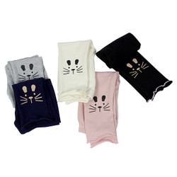 Ultra Soft Kids'Cotton Capri Kitty 5 Pack Assorted Color 18M