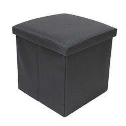 black solid color extra large ottoman storage box