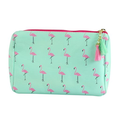 Flamingo Print Multiuse Bag Tassels