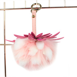 "Super Soft Mink Fur Fruit Charm 5.5"" Pink"