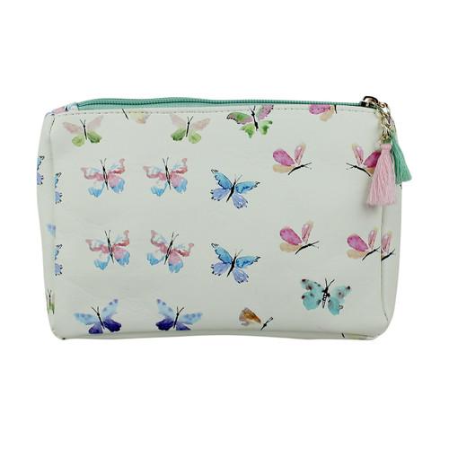 Butterfly Print Multiuse Bag Tassels