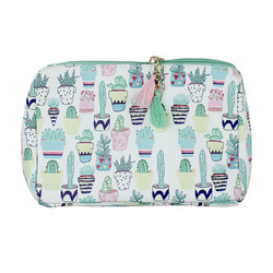 Succulents Print Multiuse Bag Tassels
