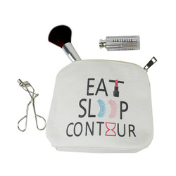 Eat Sleep Contour Canvas Makeup Bag