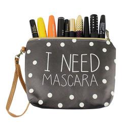 I Need mascara Makeup Bag