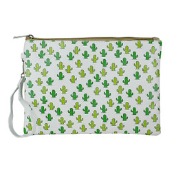Cactus Print Large Makeup Bag