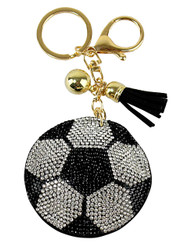 Socker Rhinestone Key Chain with Padded Felt Backing
