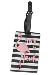 Flamingo Pretty In Pink Luggage Tag