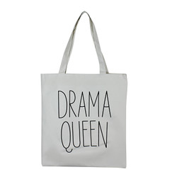Drama Queen White Canvas Tote Bag