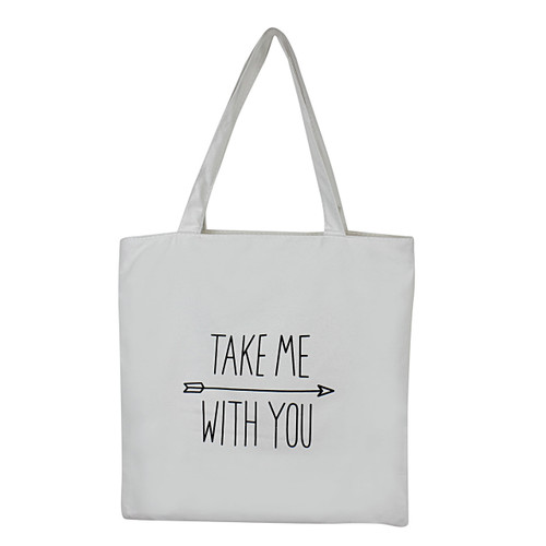 Take Me with You Flannel Tote Bag