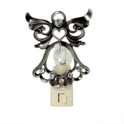 Crystal Bejeweled Angel Nightlight