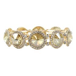 Elegant Crystal Bracelets Amber