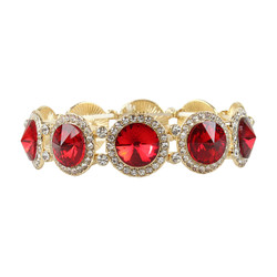 Elegant Crystal Bracelets Red