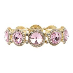 Elegant Crystal Bracelets Pink