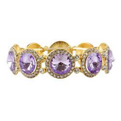 Elegant Crystal Bracelets Lavender