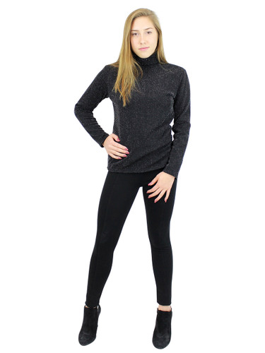 Shimmer and Shine Turtleneck Long Sleeve with Fleece Black Size L
