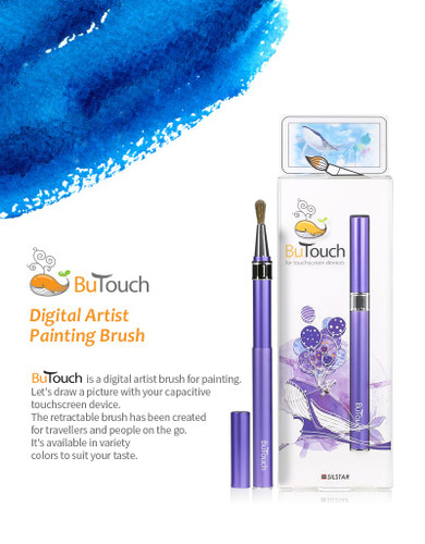 SilstarButouchBrush Pen Stylus Digital Touch Pen For Android iPhone iPad Tablet Touch Screens Purple