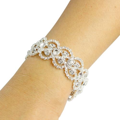 Victorian Bracelet Cubic Zirconia Silver