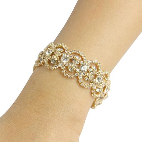 Victorian Bracelet Cubic Zirconia Gold