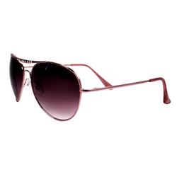 Aviator Sunglasses with Rhinestones Pink