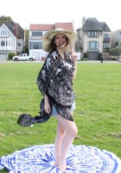 Tribal Elephant Kimono Wrap Cardigan Black
