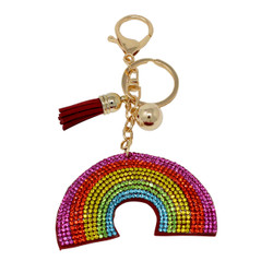 Rainbow Key Chain with Soft Padded Felt Backing