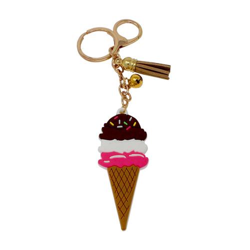 Ice Cream Keychain Bag Charm PVC